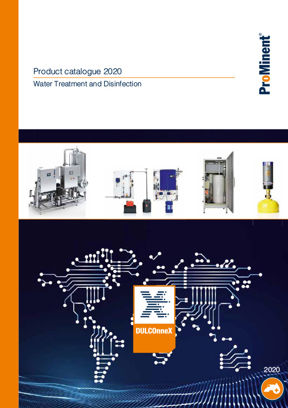 ProMinent® Product Catalogue 2020 - Volume 3: Water Treatment and Water Disinfection